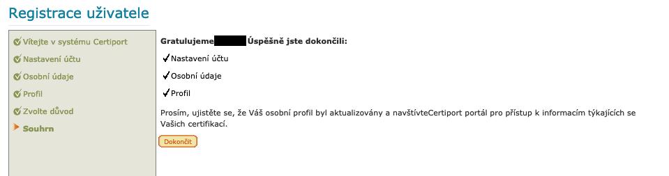 Registrace na portálu Certiport